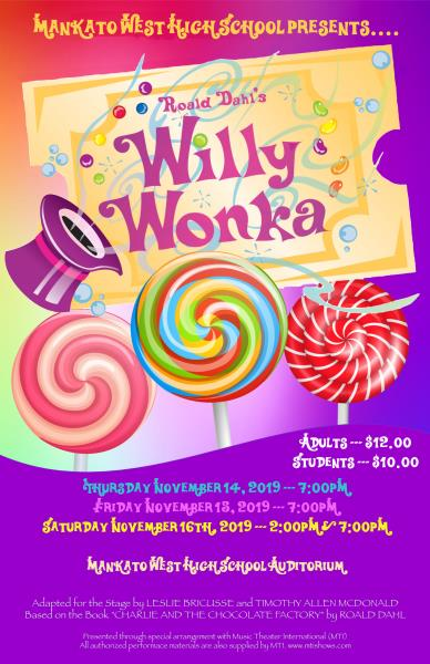 Willy Wonka play poster